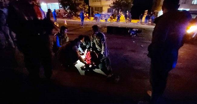 Kamyonetle çarpışan motosikletli kurye hayatını kaybetti