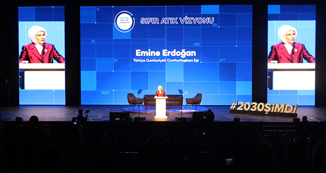 Emine Erdoğan çevre ve iklim sorunlarına değindi