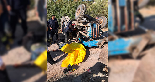 Feci kaza: Traktörün altında kalan sürücü hayatını kaybetti