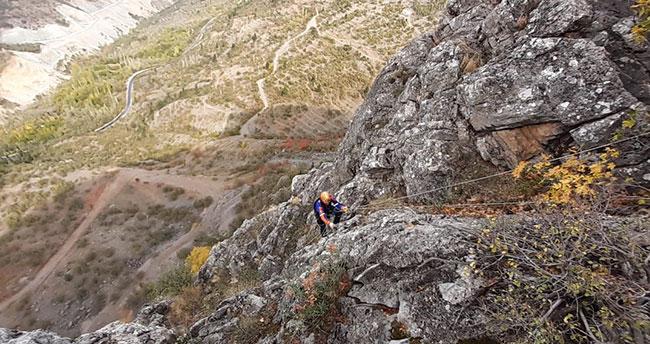 Konya'da dağda mahsur kalan keçileri AFAD kurtardı