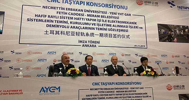 Konya Metrosu için imzalar atıldı!