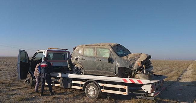 Konya-Aksaray kara yolunda cip devrildi: 5 yaralı!