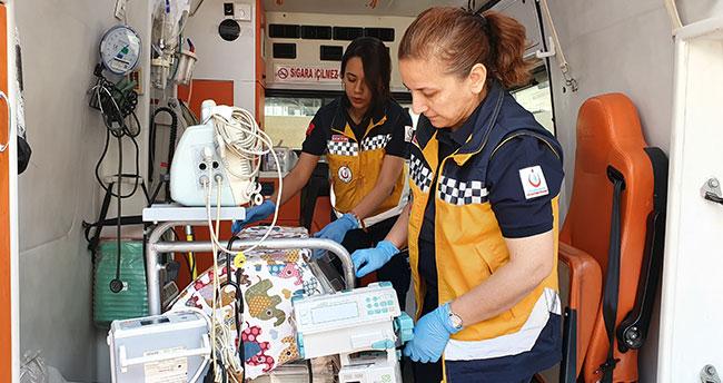 Konya'da anne kız aynı ambulansta görev yapıyor