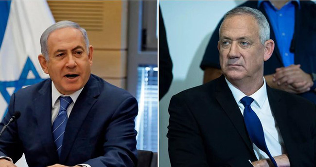İsrail'de seçimlerin galibi Gantz, Netanyahu'yu suçladı .