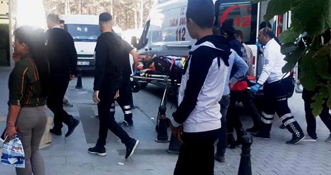 Konya'da inşaat iskelesinden düşen işçi yaralandı
