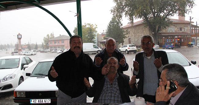 Konya'ya yağan yağmur çiftçiyi umutlandırdı