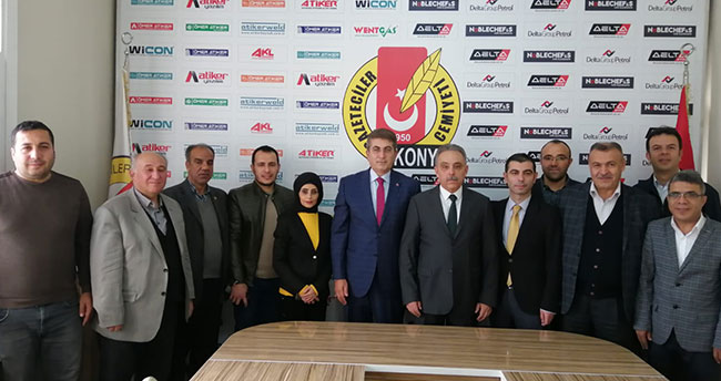 Vali Toprak'tan Konya Gazeteciler Cemiyeti' ne ziyaret
