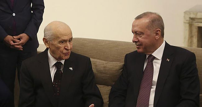 Erdoğan ile Bahçeli Meclis'te bir araya geldi