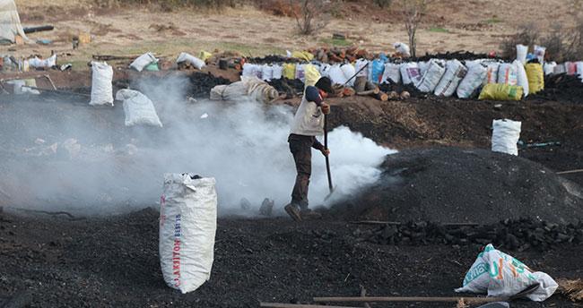 """Mangal kömürü işçilerinin """"ekmek"""" mücadelesi"""