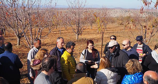 Uluslararası Tarımsal Kalkınma Fonu yetkilileri Bozkır'ı ziyaret etti