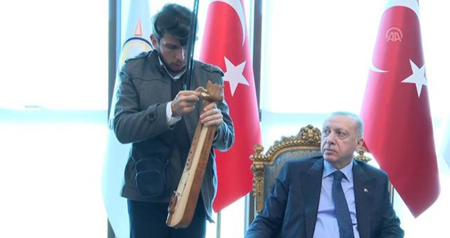Başkan Erdoğan'dan 19 farklı enstrüman çalan Talha'ya anlamlı jest
