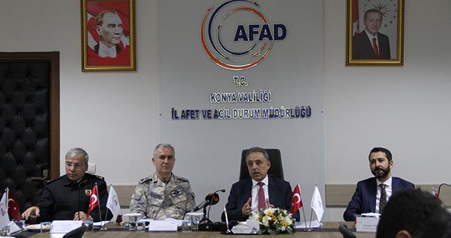 Konya'da AFAD'dan masabaşı ve saha tatbikatı