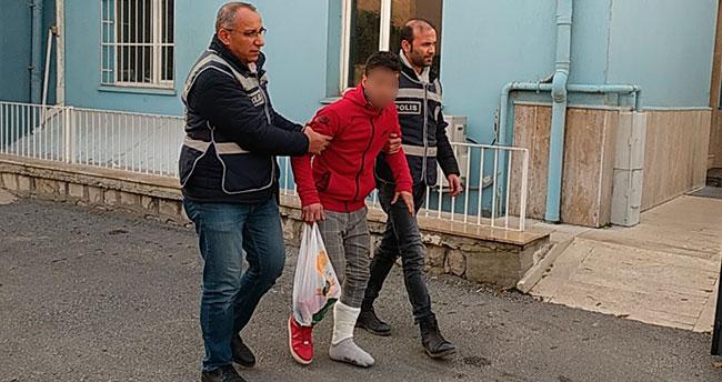 Şaşkın hırsız çelik kasayı ayağına düşürünce yakalandı