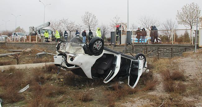 Konya'da otomobil devrildi! Sürücü hayatını kaybetti