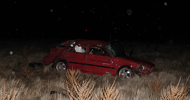 Karaman – Konya kara yolunda kaza: İzne gelen uzman çavuş trafik kazasında hayatını kaybetti
