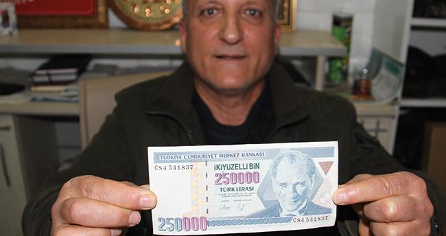 Konya'da emekli devlet memuru hatalı basım eski 250 bin lirayı bugünkü 250 bin liraya satmak istiyor