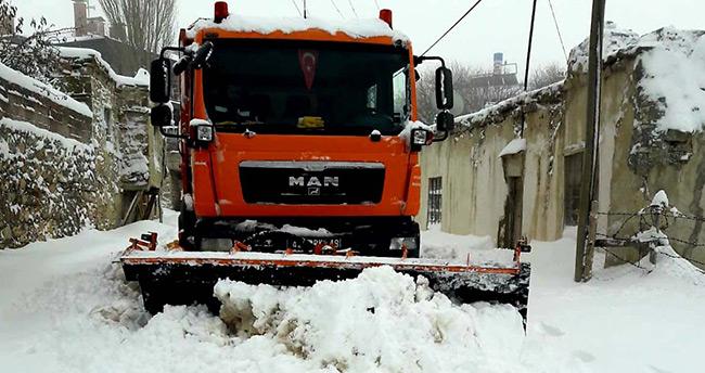 Konya selçuklu'da ekipler kış şartlarına hazır