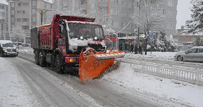 Akşehir'de kar yağışı