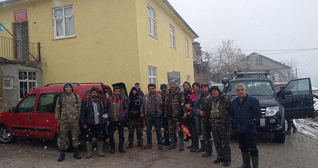 Karaman'da yaban domuzu avı düzenlendi