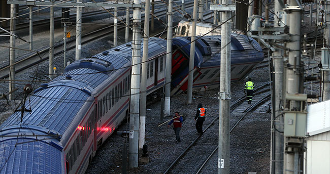 Ankara'da tren kazası! Raydan çıktı