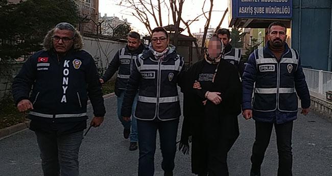 Konya'da kocasıyla yaşayan kadını öldüren zanlı adliyeye sevk edildi