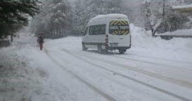 Konya'nın 7 ilçesinde eğitime kar engeli