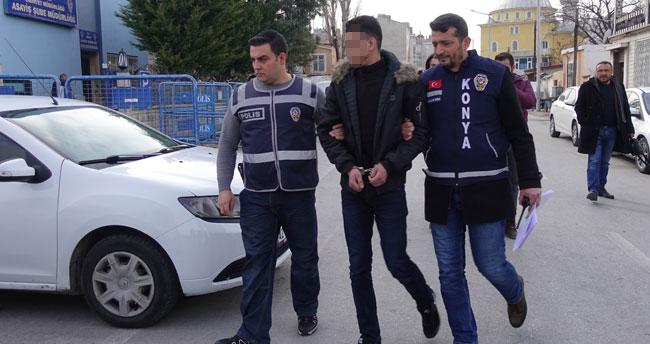 Konya'da kuzenini bıçakladıktan sonra yurt dışına kaçmak isteyen Suriyeli tutuklandı