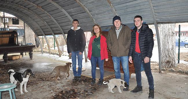 Konya'da öğretmen ve öğrencilerden köpek yavrularına şefkat