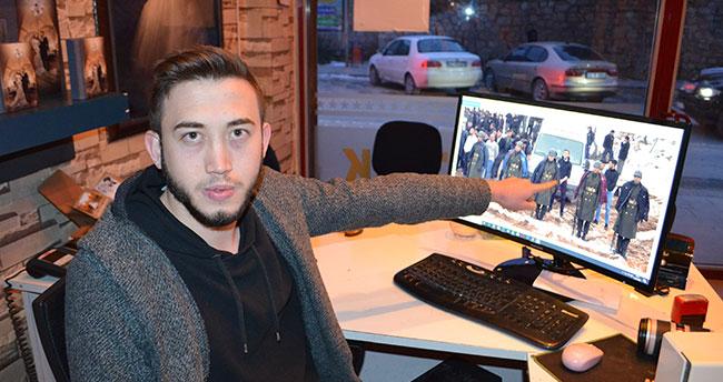 Konya'da şehit cenazesinde üşümesinler diye kendi montlarını askerlere giydiren gençlerden biri o anları anlattı