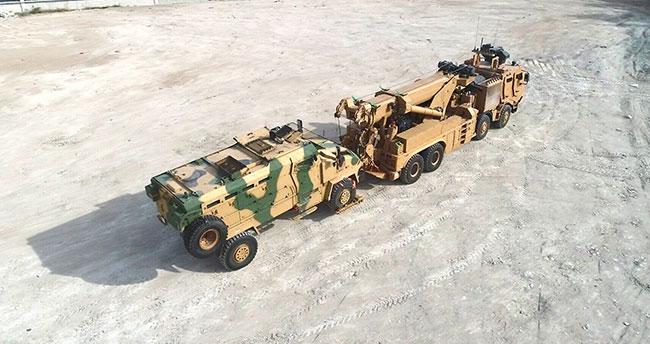 Konya'da üretildi! Askeri araçların 46 tonluk kurtarıcısı M4K zorlu testleri başarıyla geçti