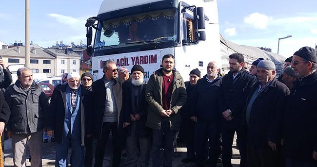 Seydişehir'den İdlib'e bir tır yardım malzemesi gönderildi