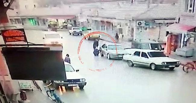 Konya'da savrulan kamyonet, yakıt dolduran 2 kişiye çarptı! O anlar kamerada