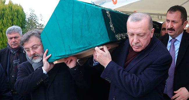 Cumhurbaşkanı Erdoğan, Leyla Şahin Usta'nın babasının cenazesine katıldı