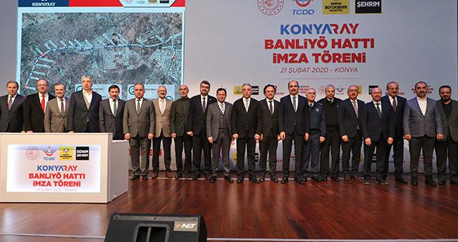 """Konya ulaşımında yeni dönem! """"Konyaray Banliyö Hattı"""" imza töreni düzenlendi"""
