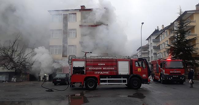 Akşehir'de depo yangını