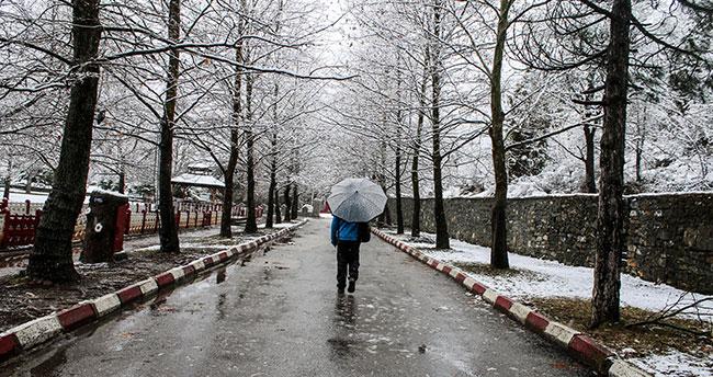 Konya'da muhteşem kar manzarası!