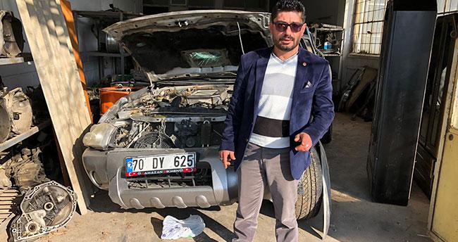 Karaman- Konya kara yolunda seyir halindeki aracı ile canlı yayın yaparken kaza geçirdi
