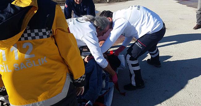 Konya'da kalp krizi geçiren hastanın imdadına hava ambulansı yetişti