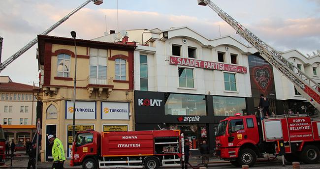 Konya'da iş merkezi yangını