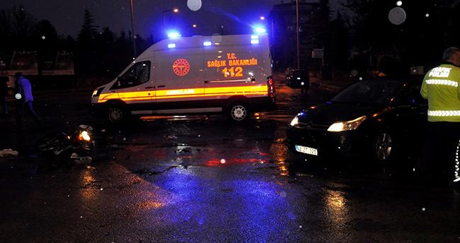 Seydişehir'de otomobilin çarptığı bisikletli yaralandı
