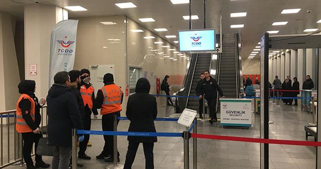 Konya'dan İstanbul'a giden Yüksek hızlı trende koronavirüs paniği