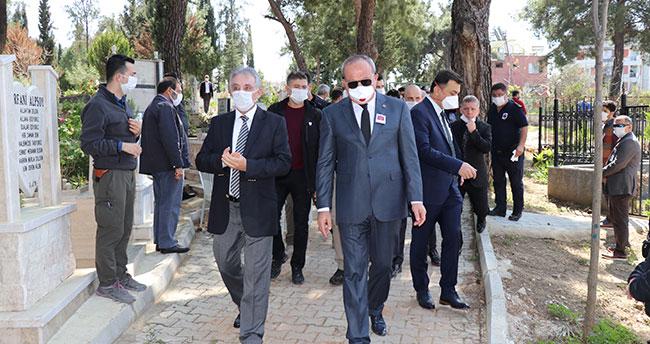 Konya Emniyet Müdürü Aydın'ın babası son yolculuğuna uğurlandı