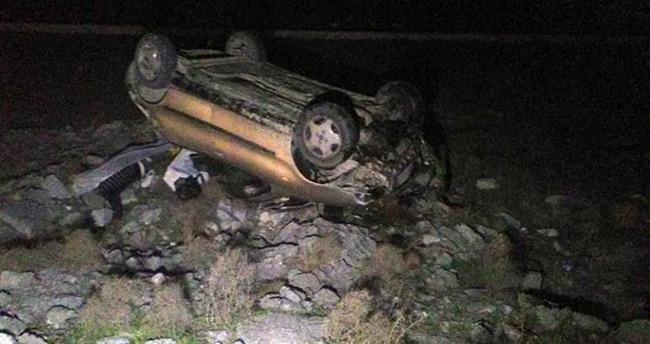 Konya'da takla atan aracın sürücüsü hayatını kaybetti