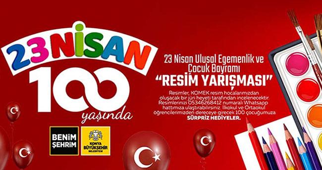 Konya Büyükşehir Belediyesi, 23 Nisan'da çocuklar için resim yarışması düzenliyor