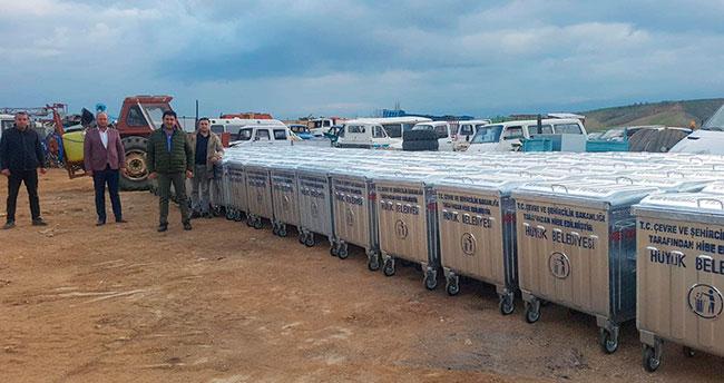 Çevre ve Şehircilik Bakanlığından Hüyük'e çöp konteyneri