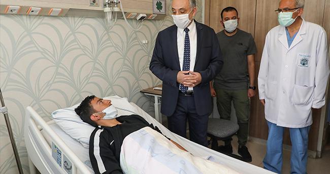 Kars'taki operasyonda yaralanan Uzm. Çvş. Durmaz Konya'da tedaviye alındı