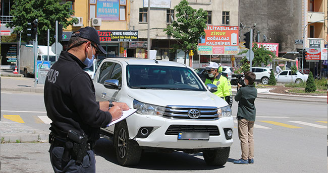 Seydişehir'de sokağa çıkma kısıtlamasına sıkı denetim