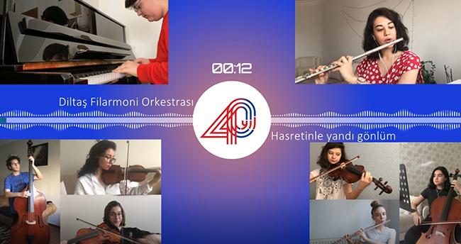 Diltaş Filarmoni Orkestrası söyledi: Hasretinle Yandı Gönlüm