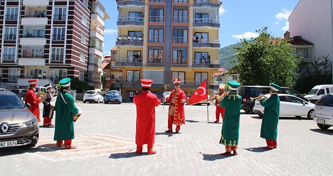 Akşehir'de mehterli kutlama yapıldı