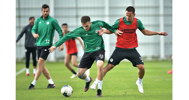 Konyaspor, Gençlerbirliği maçının hazırlıklarını sürdürdü